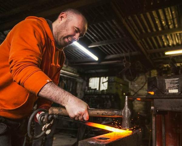 Metal Forging with Volunteers