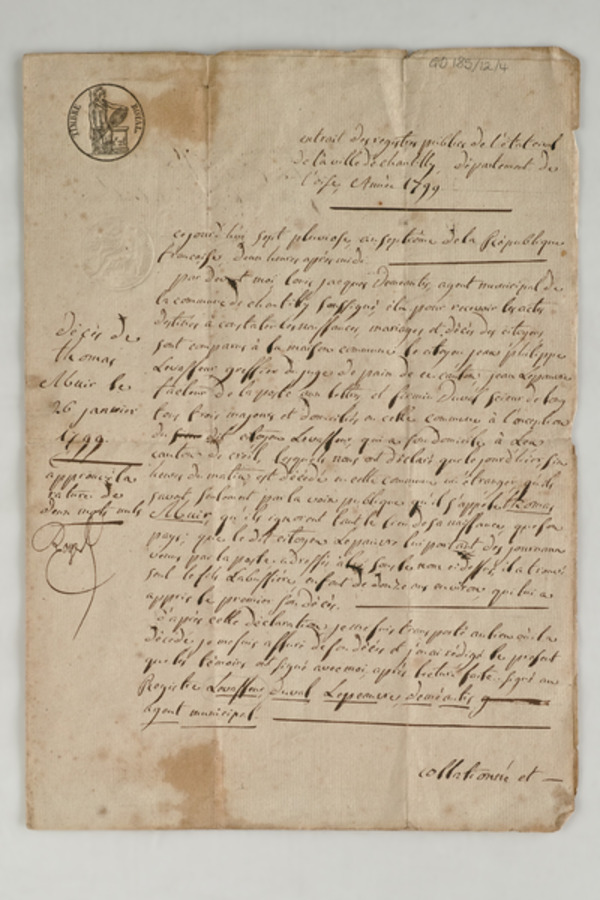 Thomas Muir death extract