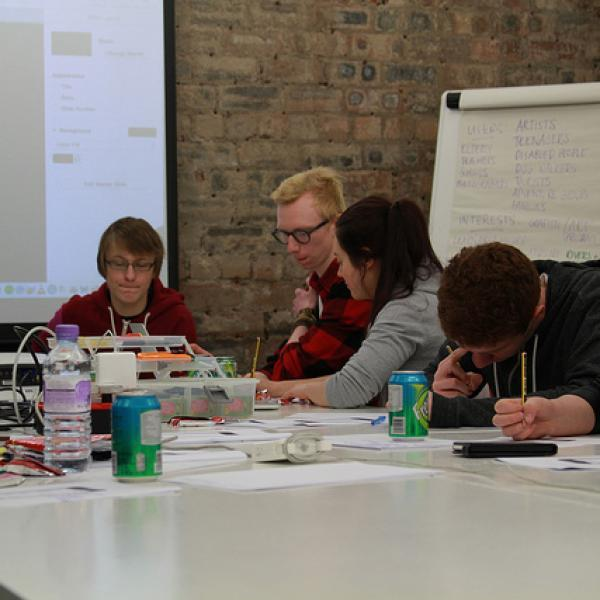 Interaction Design Workshop, 16 - 25 years:  phone applications