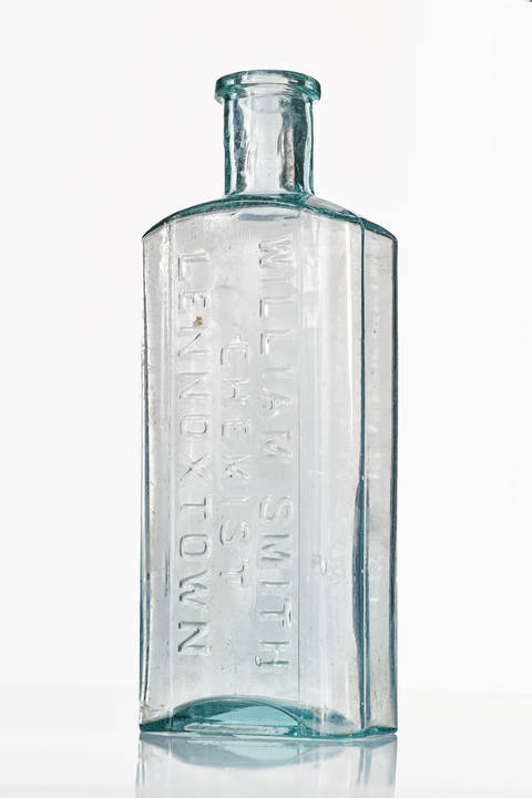 Glass chemist bottle - Lennoxtown